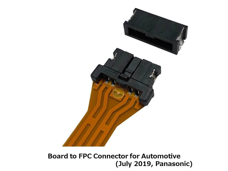 Panasonic FPC connector replaces harnesses