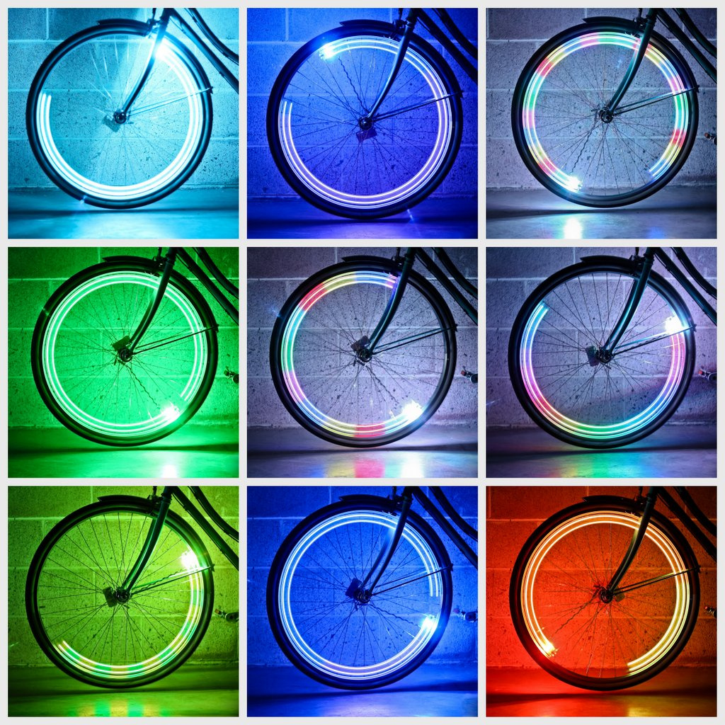 LED bike lights use sensors for colour-coded action