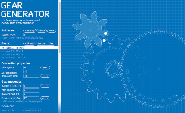 Generous website designs involute gears for you