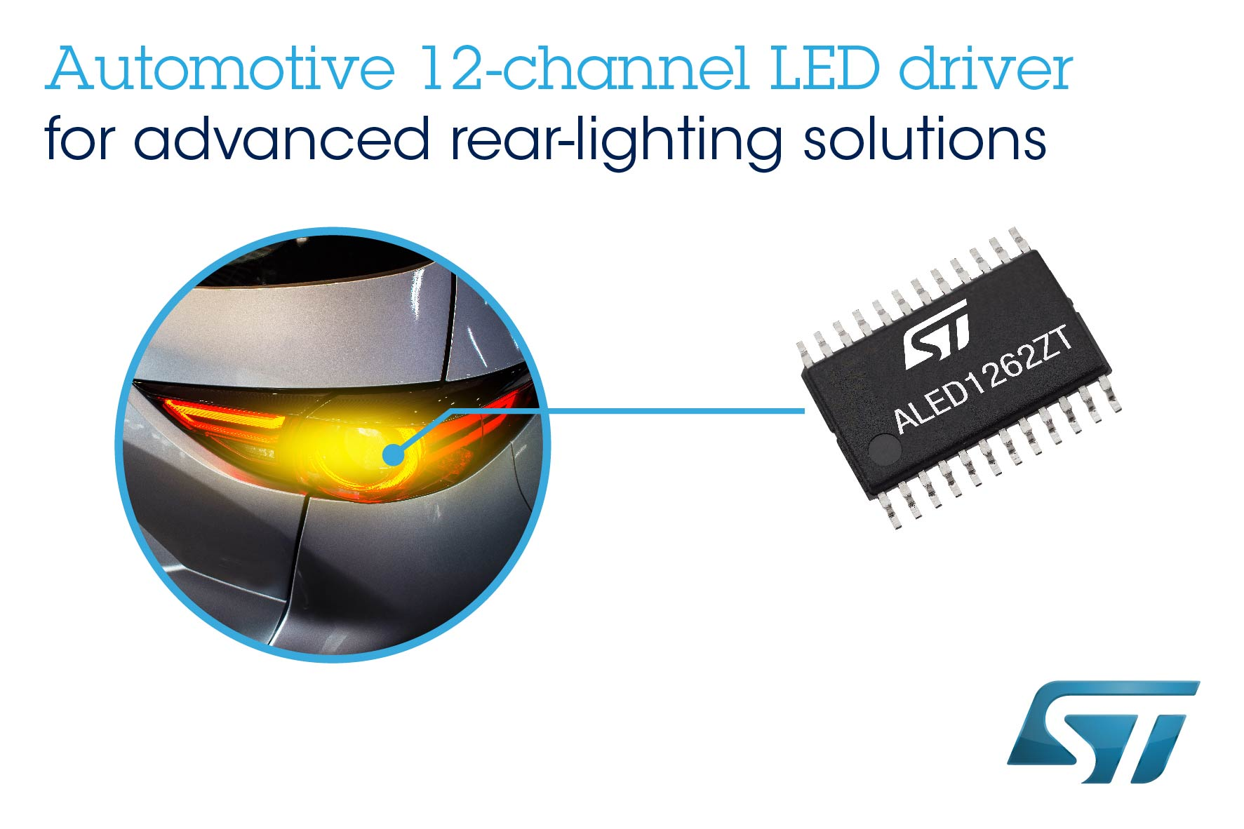 12-channel LED driver for auto rear combination lamps and interior lighting
