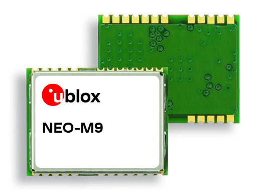 U-Blox M9 meter-level positioning technology features GNSS chip