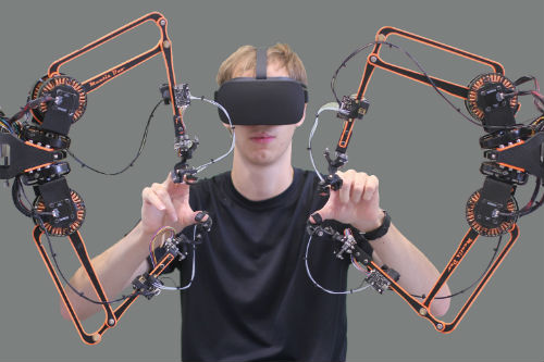Low-cost force feedback human interface from the University of Bristol