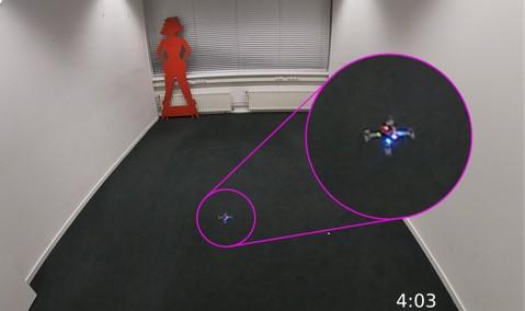 fotocamera sciame droni