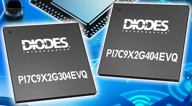PCIe packet switches from Diodes aims at automotive applications
