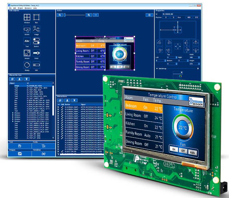 Embedded World Segger Releases Appwizard For Gui Design