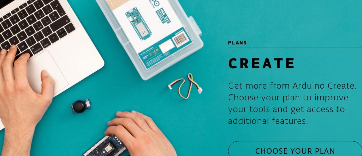Arduino offers free Arduino Create Maker plan