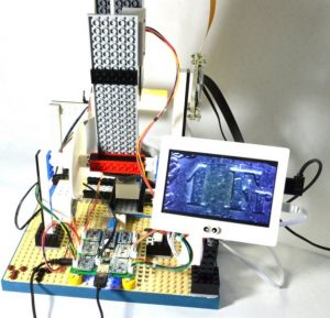 Arduino + Raspberry Pi + LEGO==$300 motorised microscope