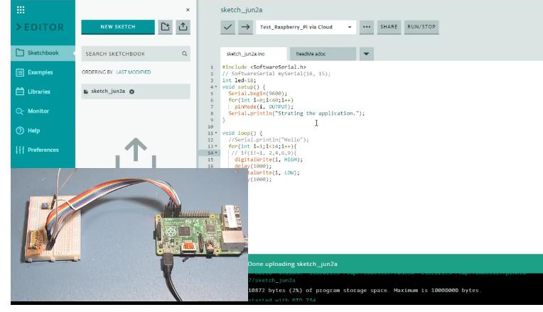 Raspberry Pi GPIO programming via the Arduino IDE