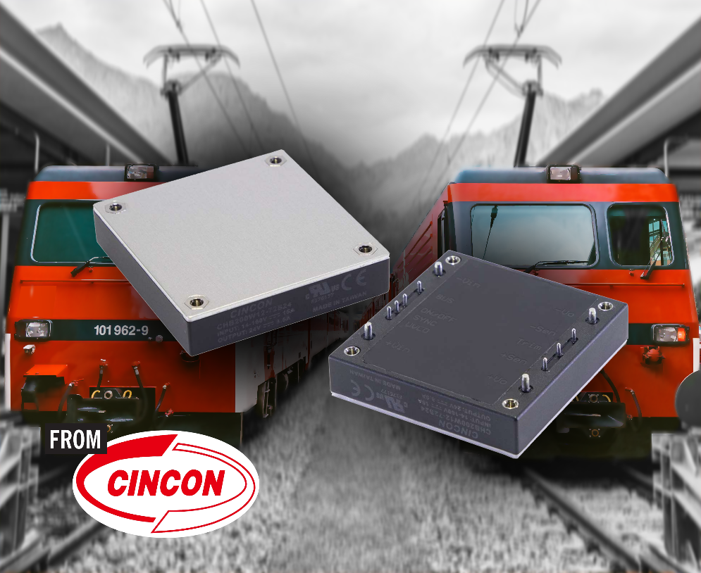 Cincon half brick DC-DC converters have wide input range for rail and industry
