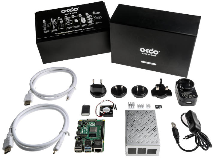 8G Raspberry Pi 4 starter kit includes fanned aluminium case thumbnail