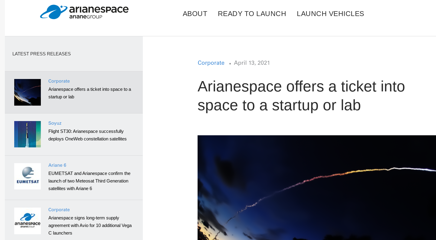 Arianespace opens contest for cubesat launch