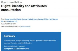 UK Government digital identity website