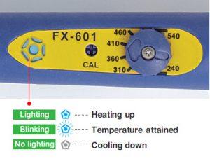 Hakko FX-601 controls