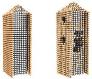Terasaki silver-gold core-shell nanowires