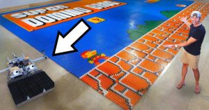 Mark Rober world record domino robot