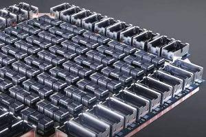 Tesla Dojo training tile power render