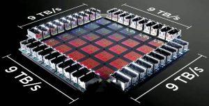 Tesla Dojo training tile render