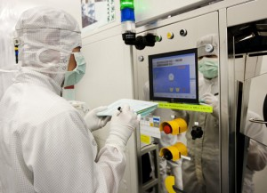 Special equipment used to clean wafers